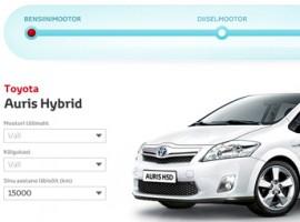 Toyota kütusekalkulaator
