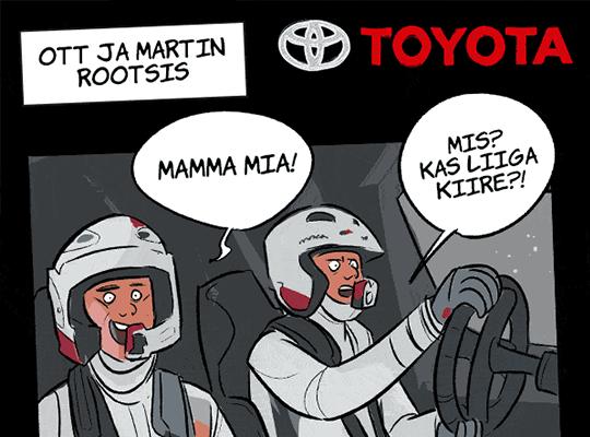 Toyota Ott Tänaku koomiksibännerid